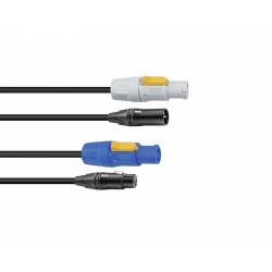 Sommer Cable - Combi Cable DMX PowerCon/XLR 2.5m 1
