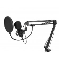 Omnitronic - BMS-1C USB Condenser Broadcast Microphone Set 1