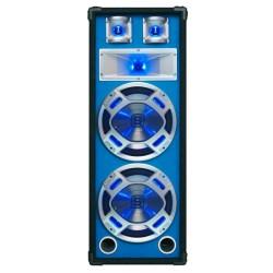 "Skytec - Baffle 2x 10""/25cm 800W LED azules."