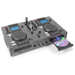 Skytec - STX-95 Doble Reproductor Top CD/USB/MP3 y Mezclador