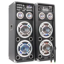 "Skytec - SPD-210V Conjunto Activo 2x 10"" USB VHF"