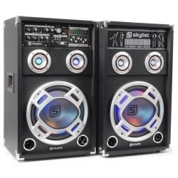 "Skytec - KA-10 Set de Altavoces Activos 10"" USB/RGB LED 800W"
