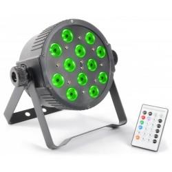 Skytec - Foco PAR Plano 12x 3W Tri-color LEDs DMX IR
