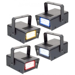 Skytec - 4 Mini Strobo por LED RYBW