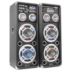 """Skytec - KA-28 Set de Altavoces Activos 2x 8"""" USB/RGB LED 1200W"""