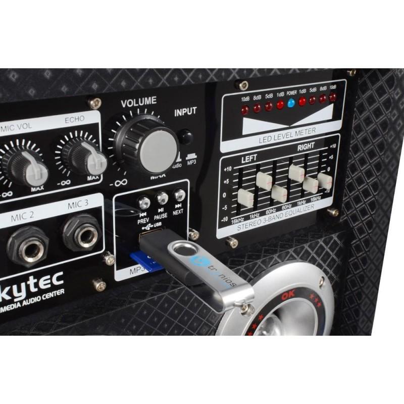 Skytec Ka 28 Active Speaker Set 2x 8 Quot Usb Rgb Led 1200w