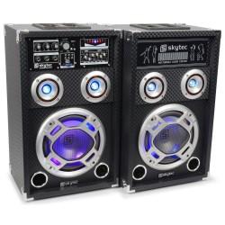 "Skytec - KA-08 Set de Altavoces Activos 8"" USB/RGB LED 600W"