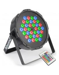 Skytec - Foco PAR Plano 36x 1W RGB LEDs DMX IR Mando a distancia