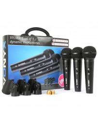 Skytec - VX1800S Microfono dinamico set 3pcs