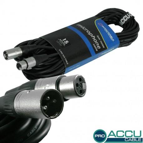 Accu-cable - AC-PRO-XMXF/15 XLR m/f 15m 1