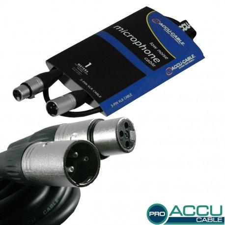 Accu-cable - AC-PRO-XMXF/1 XLR m/f 1m 1