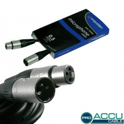 Accu-cable - AC-PRO-XMXF/0,5 XLRm/f  0,5m 1