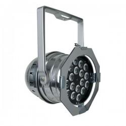 Showtec - Par 64 Short 18 x RGB 3-in-1 LED SILVER