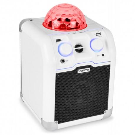 Vonyx - SBS50W Bafle Party blanco con bola RGB LED 1