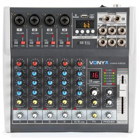 Vonyx - VMM-K602 Mezclador de directo 6 canales con DSP 1
