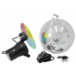 Eurolite - Mirror Ball Set 30cm with Pinspot 1