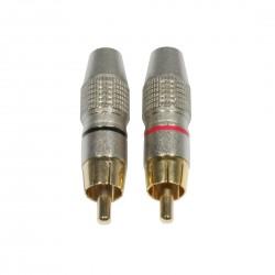 Accu-cable - AC-C-RMG/SET RCA Cinch plug male gold 1
