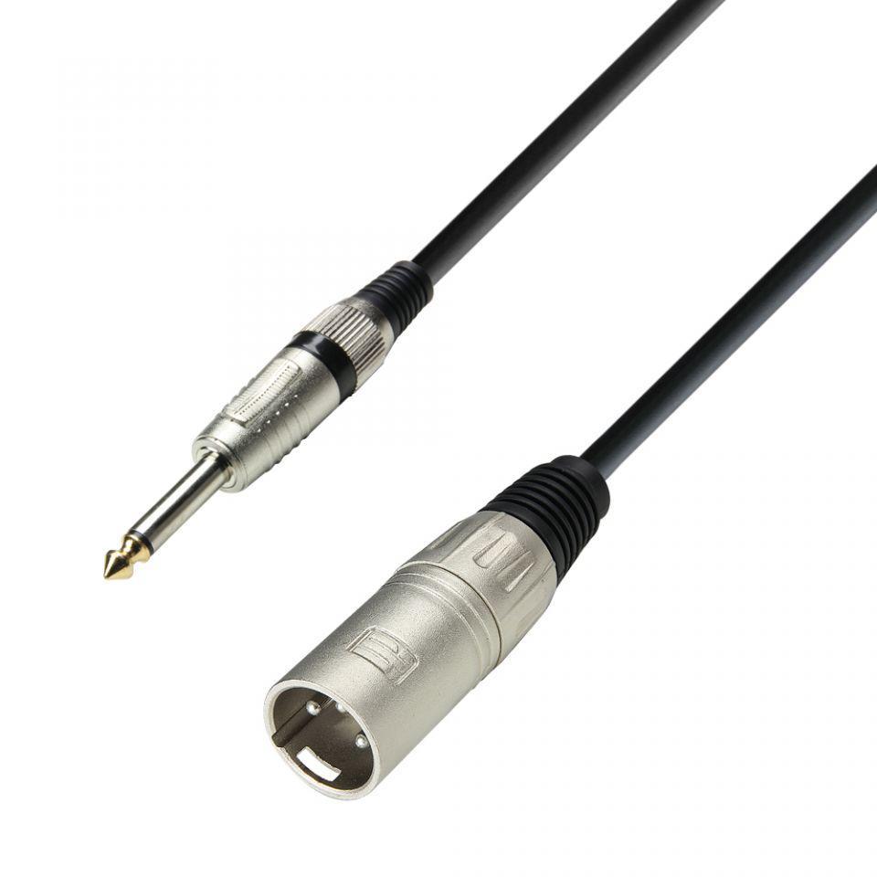 Instrumentenkabel 6,3 mm Klinke mono auf 9 m Adam Hall Cables K3 IPP 0900
