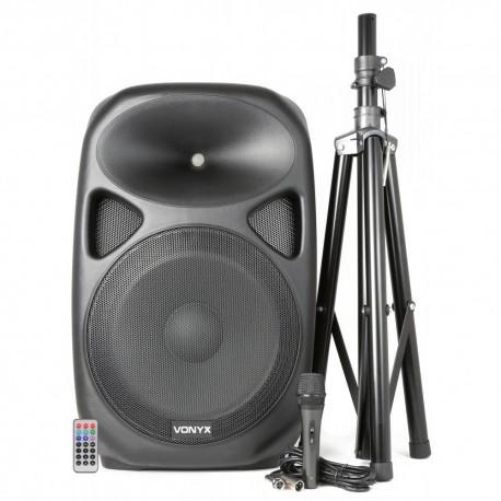 """Vonyx - """"SPS152 Bafle Activo 15"""""""" SD/USB/MP3/BT con Tripode"""" 170.303 1"""