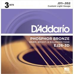 D'addario - EJ26-3D (pack 3 juegos)