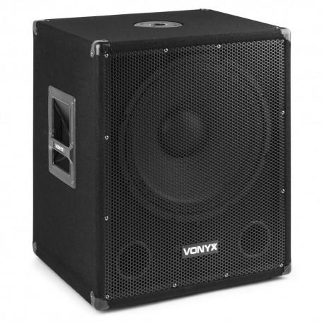 Vonyx - SMWBA15MP3 Subwoofer Bi-AMP 15 pulgadas/600W y Bluetooth 170.812 1