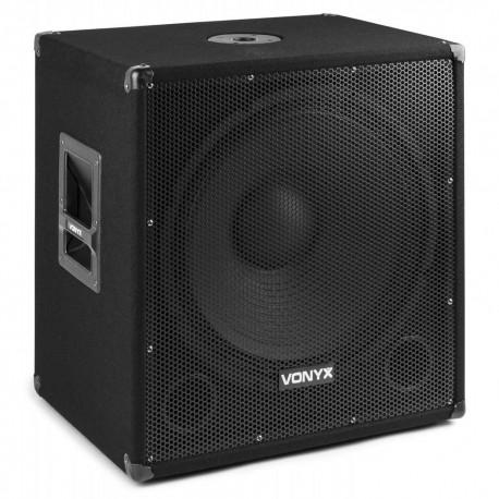 Vonyx - SMWBA18MP3 Subwoofer Bi-AMP 18pulgadas/1000W y Bluetooth 170.815 1