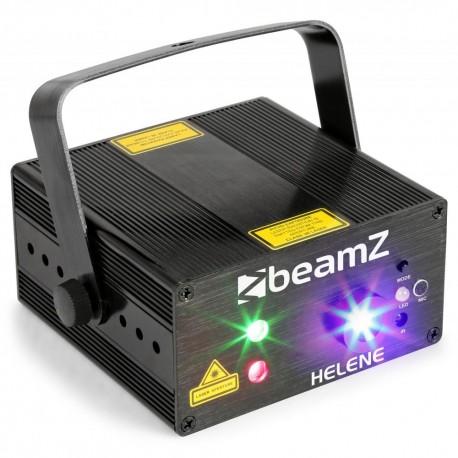 BeamZ - Helene Doble laser RG Multi point IRC Led 3W Azul 152.666 1