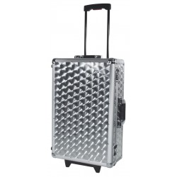 Roadinger - CD Case polished 120 CDs with Trolley