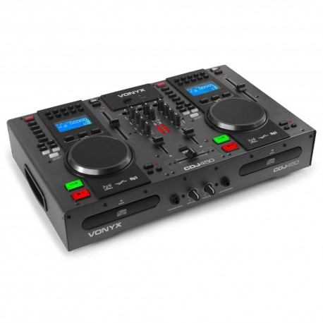 Vonyx - CDJ450 Doble reproductor mezclador sobremesa CD/MP3/USB con Bluetooth  172.805 1