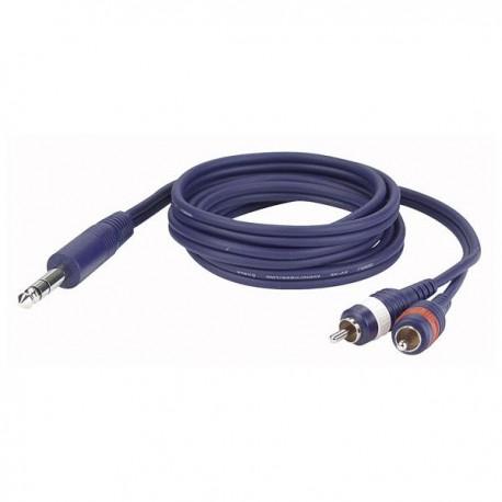 Dap Audio - FL35 - Stereo Jack > 2 RCA Male L/R 1