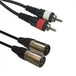 Accu-cable - AC-2XM-2RM/1,5 2x XLR male/2 x RCA 1,5m 1