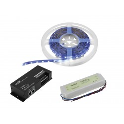 Eurolite - Set LED Strip RGBWW 5m + DMX Controller + Transformer 24V 1