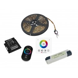 Eurolite - Set LED Strip RGB 5m + RF Controller + Wandpanel + Trafo 24V 1
