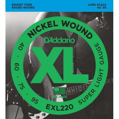 D'addario - EXL220 XL NICKEL WOUND SUPER LIGHT [40-95] 1