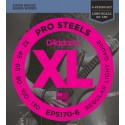 D'addario - EPS170-6 PROSTEELS 6-STRING BASS, LIGHT, LONG SCALE [32-130]