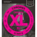D'addario - ECB81-5 CHROMES BASS 5-STRING, LIGHT, LONG SCALE [45-132]