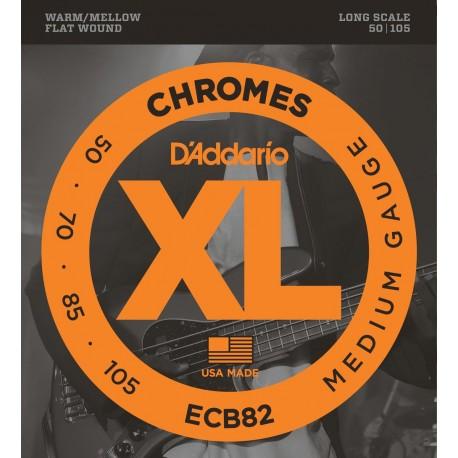 D'addario - ECB82 CHROMES BASS, MEDIUM, LONG SCALE [50-105] 1