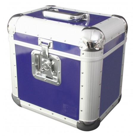 Roadinger - Record Case ALU 75/25, rounded, blue 1