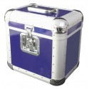 Roadinger - Record Case ALU 75/25, rounded, blue