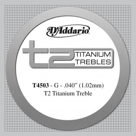 D'addario - T4503 T2 TITANIUM 1