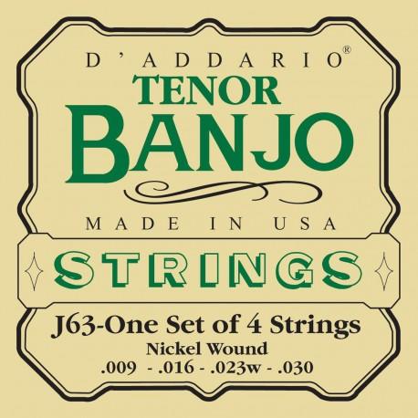 D'addario - EJ63 TENOR BANJO, NICKEL, [9-30] 1