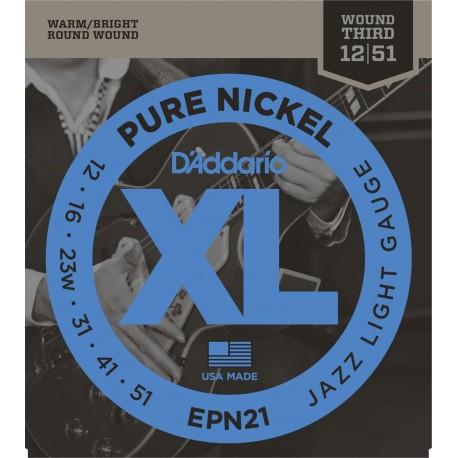 D'addario - EPN21 PURE NICKEL JAZZ LIGHT [12-51] 1
