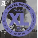 D'addario - EXL115-3D - XL BLUES/JAZZ ROCK [11-49]