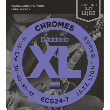 D'addario - ECG24-7 CHROMES JAZZ LIGHT 7 STRINGS [011-65] 1