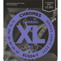 D'addario - ECG24-7 CHROMES JAZZ LIGHT 7 STRINGS [011-65]