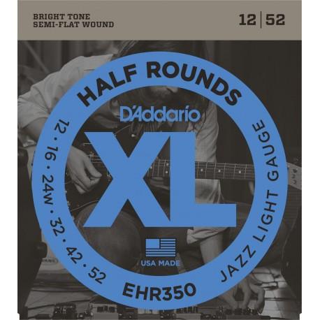 D'addario - EHR350 HALF ROUNDS JAZZ LIGHT [12-52] 1