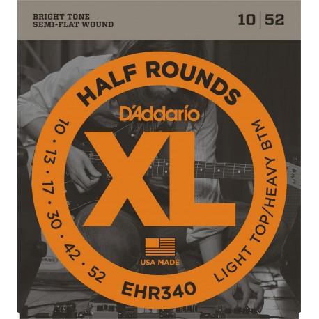 D'addario - EHR340 HALF ROUNDS LIGHT TOP/HEAVY BOTTOM [10-52] 1