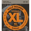 D'addario - EHR340 HALF ROUNDS LIGHT TOP/HEAVY BOTTOM [10-52]