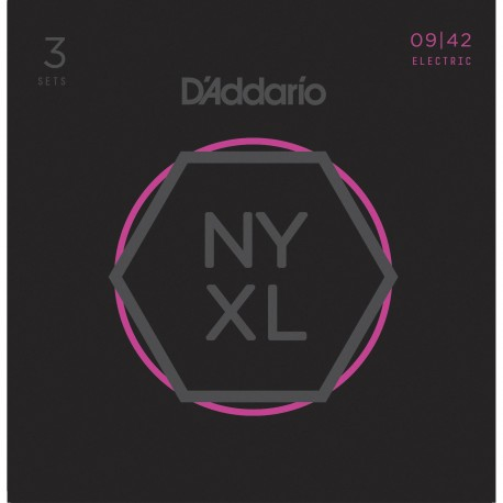 D'addario - NYXL0942 SUPER LIGHT [09-42] PACK 3 JUEGOS 1