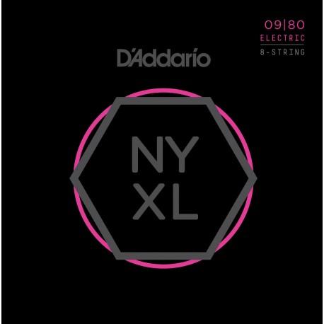 D'addario - NYXL0980 ELECTRIC 8 CUERDAS [09-80] 1